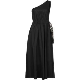 《セール開催中》.TESSA レディース 7分丈ワンピース・ドレス ブラック 40 コットン 100%