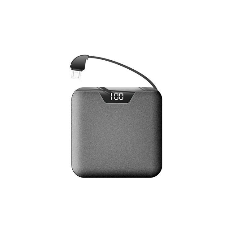 行動電源 20000M毫安迷你自帶線大容量超薄小巧便攜MIUI華為蘋果X手機通用快充閃充 快速出貨