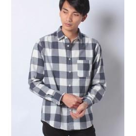 【55%OFF】 コエ スタンダードバッファローチェックシャツ メンズ ブルー S 【koe】 【タイムセール開催中】