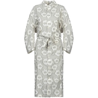 《セール開催中》HENRIK VIBSKOV レディース 7分丈ワンピース・ドレス ホワイト M/L コットン 100%