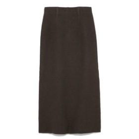 【SNIDEL:スカート】ボイルドウールナロースカート