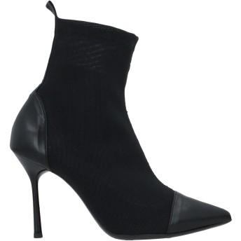 《セール開催中》ROBERTA PACI レディース ショートブーツ ブラック 37 革 / 紡績繊維