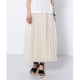 [センスオブプレイス] スカート シアープリーツロングスカート レディース BEIGE FREE