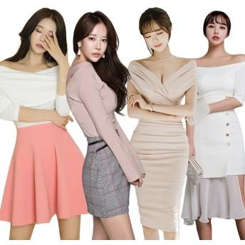 2019新作着痩せ ブラウス+スカート 2点セット 春夏の新品 韓国ファッション ドレス ふんわりスカート 洋服 つりスカート セクシーなワンピース レースのワンピース