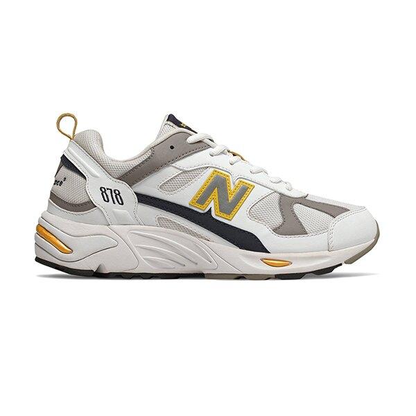 【領券最高折$250】【NEW BALANCE】NB 878 復古鞋 休閒鞋 老爹鞋 經典復刻 中性 白黃 男女鞋 -CM878TCAD