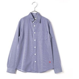 【COMME CA FILLE:トップス】ジャージ素材ベーシックシャツ