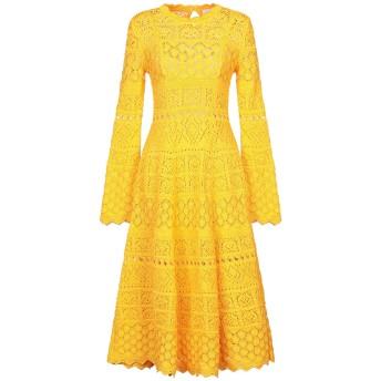 《セール開催中》CAROLINA HERRERA レディース 7分丈ワンピース・ドレス オレンジ S コットン 100%