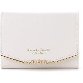 サマンサタバサプチチョイス お花バーシリーズ(折財布) ホワイト