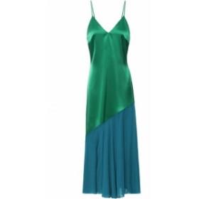 ラシル RACIL レディース ワンピース スリップドレス ミドル丈 ワンピース・ドレス Zsa Zsa satin and chiffon midi slip dress Emerald