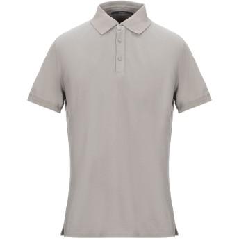 《セール開催中》KANGRA CASHMERE メンズ ポロシャツ カーキ 52 コットン 100%