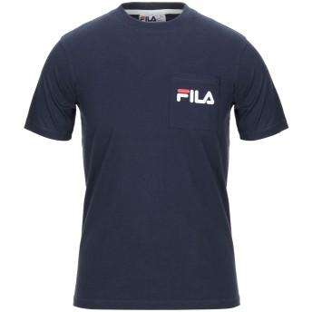 《セール開催中》FILA メンズ T シャツ ダークブルー S コットン 100%