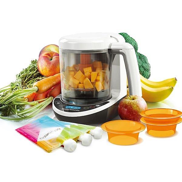 【加贈蒸鍋+dapple洗衣片32片】美國 Babybrezza 副食品自動料理機/調理機-數位版