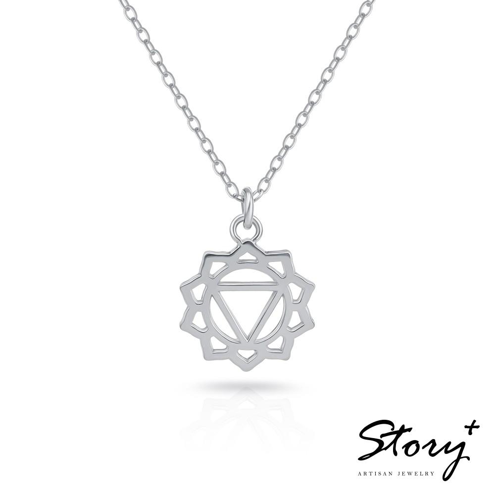 STORY故事銀飾 脈輪系列 太陽輪 Solar Chakra 純銀鎖骨鍊