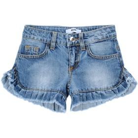 《セール開催中》MSGM ガールズ 3-8 歳 デニムショートパンツ ブルー 6 コットン 100%