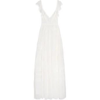 《セール開催中》NEEDLE & THREAD レディース ロングワンピース&ドレス アイボリー 14 シルク 100%