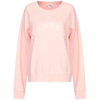 《セール開催中》THE UPSIDE レディース スウェットシャツ ピンク XS コットン 100%