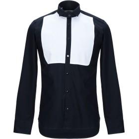 《セール開催中》MANUEL RITZ メンズ シャツ ダークブルー 38 コットン 98% / ポリウレタン 2%