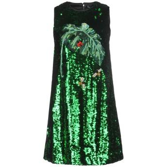 《セール開催中》DOLCE & GABBANA レディース ミニワンピース&ドレス グリーン 36 100% ポリエステル シルク ポリウレタン ガラス 真鍮/ブラス