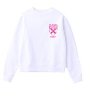 【X-girl:トップス】PREP COMPACT SWEAT TOP
