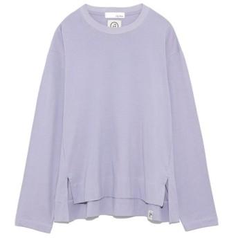 リリーブラウン フードテキスタイルビッグTシャツ レディース LAV F 【Lily Brown】