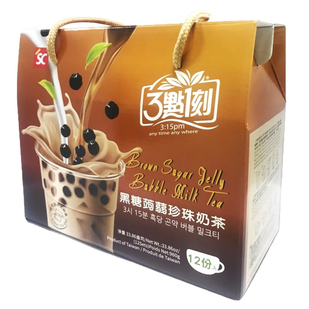 【3點1刻】黑糖蒟蒻珍珠奶茶手提盒 12份/盒
