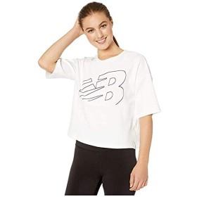 [New Balance(ニューバランス)] レディースウェア・T-シャツ・トレーナー等 Athletics Crop Jersey White L [並行輸入品]