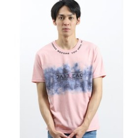 【semantic design:トップス】マジックトーン/MAGIC TONE ネックロゴクルーネック半袖Tシャツ