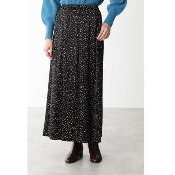 HUMAN WOMAN / ヒューマンウーマン ◆ランダムドットピーチサテンプリントスカート