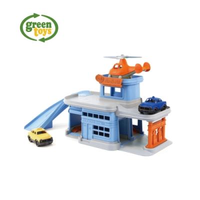 greentoys 小車方陣-雙層修護站