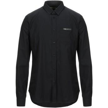 《セール開催中》VERSACE JEANS メンズ シャツ ブラック 44 コットン 100%