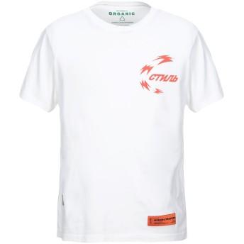 《セール開催中》HERON PRESTON メンズ T シャツ ホワイト XS コットン 100% / ポリエステル