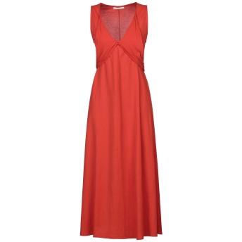 《セール開催中》PAOLA PRATA レディース 7分丈ワンピース・ドレス 赤茶色 S レーヨン 50% / ナイロン 50%