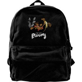 リュック リュックサックHong Kong Phooey キャンバス ニュージーランド 軽量 スクールリュック 通勤 カジュアル アウトドア 遠足 出張PC対応 A4収納 双肩バッグ 多機能ポケット 通学 旅行 アウトドア 黒
