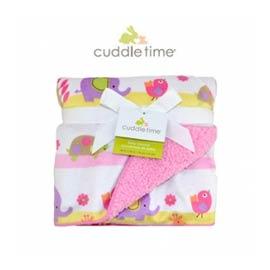 【美國Cuddle time】粉紅動物園柔柔毯