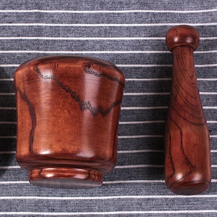 搗碎器 研磨器實木搗蒜器蒜泥器家用手動蒜木臼子研磨器擂缽壓蒜器 快速出貨