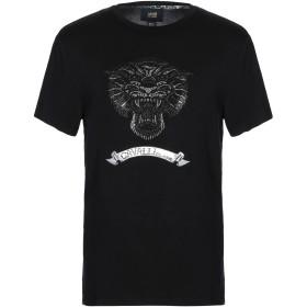 《セール開催中》CAVALLI CLASS メンズ T シャツ ブラック S レーヨン 94% / ポリウレタン 6%