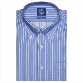 【51%OFF】 トーキョーシャツ ワイシャツ半袖形態安定 ボタンダウン綿100% ブルー系 メンズ ブルー 37(半袖) 【TOKYO SHIRTS】 【セール開催中】