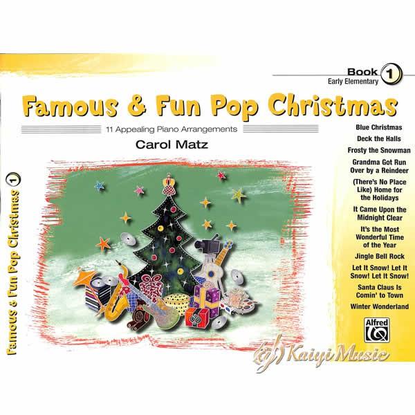 【Kaiyi Music】聖誕節樂譜 famous&fun pop christmas book 1