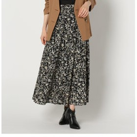 【NOLLEY'S:スカート】更紗柄スカート