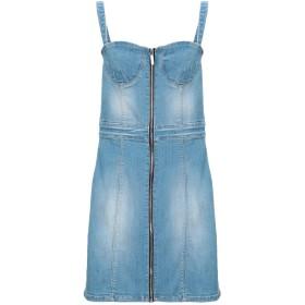 《セール開催中》ARMANI EXCHANGE レディース ミニワンピース&ドレス ブルー 0 コットン 90% / ポリエステル 8% / ポリウレタン 2%