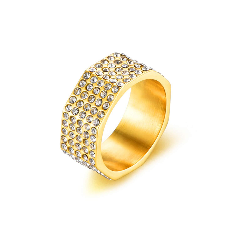 Bishilin 925 Ring Band Mantra Silver Punk Ring Men Size 9