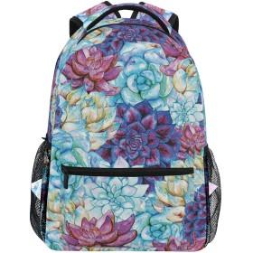 NINEHASA 新しいリュックサック人気リュックおしゃれ 大容量 軽量 通学 旅行ハイキングキャンプバッグ 芸術的な花の鮮やかなエキゾチックな自由ho放に生きる植物学と手描きのパターン