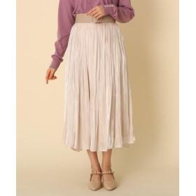 クチュールブローチ オーロラサテンプリーツスカート レディース ナチュラル(050) 38(M) 【Couture Brooch】