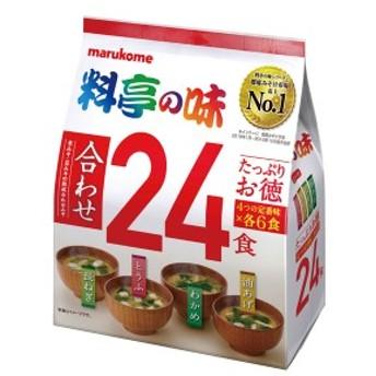 【送料無料】マルコメ たっぷりお徳 料亭の味24食入袋×1ケース(全12本)