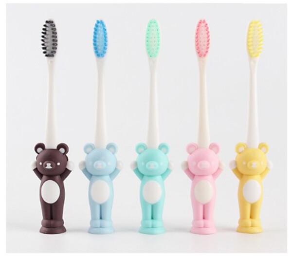 兒童造型牙刷(實際出貨熊的圖案手向下)單位:4支/包