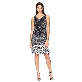 [Tommy Bahama(トミーバハマ)] ドレス・ワンピース Fronds Have More Fun Dress Black XS [並行輸入品]
