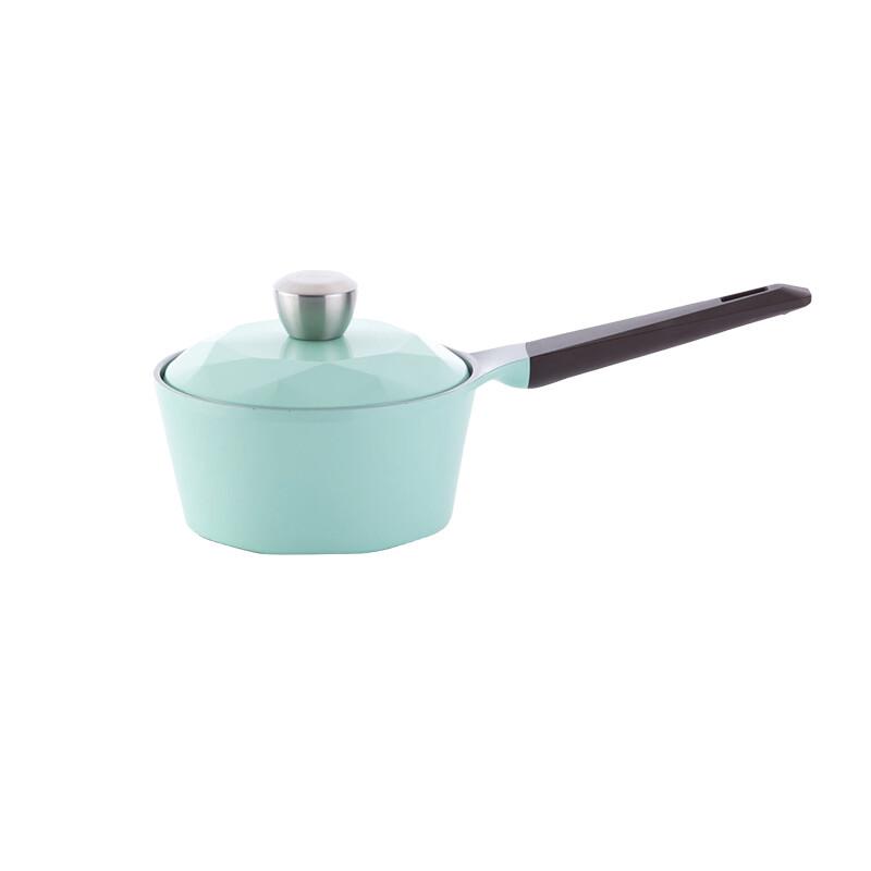 neoflam carat系列陶瓷不沾單柄湯鍋18cm-tiffany藍+合金蓋