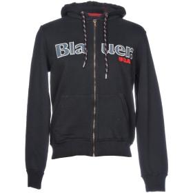 《セール開催中》BLAUER メンズ スウェットシャツ ブラック M コットン 100%