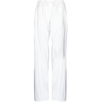 《セール開催中》FISICO レディース パンツ ホワイト L シルク 52% / コットン 48%