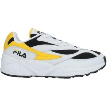 《セール開催中》FILA レディース スニーカー&テニスシューズ(ローカット) イエロー 37 革 / 紡績繊維 V94M low wmn